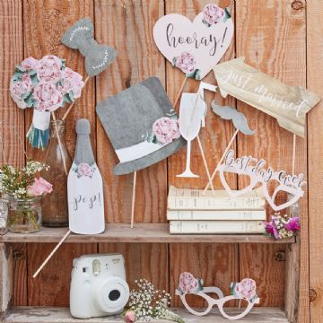 Wedding Photo Props - pack of 10